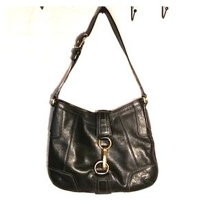 COACH Black Leather Purse Handbag